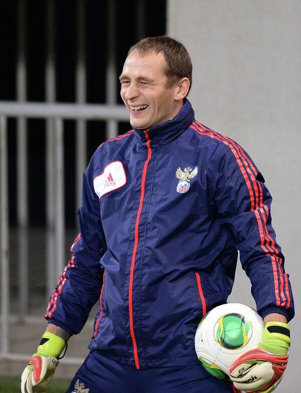 Сергей Рыжиков на тренировке