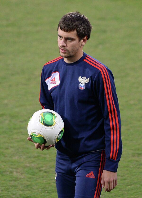 Защитник сборной России по футболу Георгий Щенников