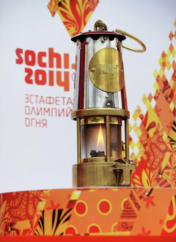 Лампада с олимпийским огнем