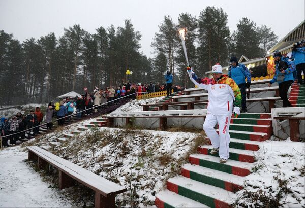 Эстафета Олимпийского огня. Республика Карелия