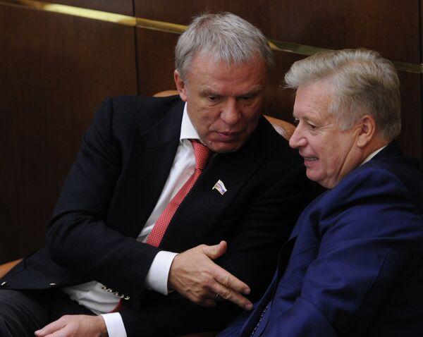 Вячеслав Фетисов и Леонид Тягачев (слева направо)
