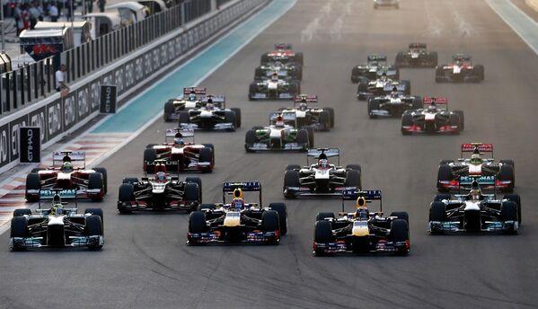 Старт Гран-при Абу-Даби