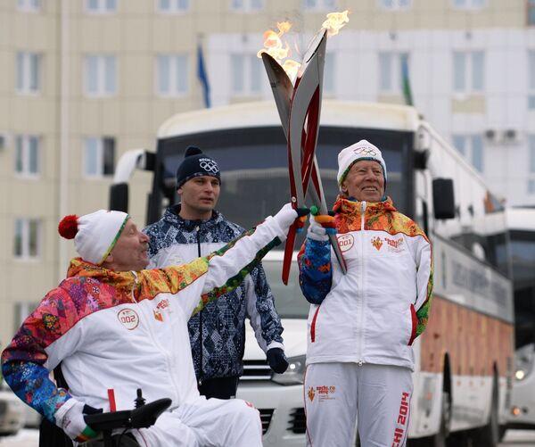 Эстафета Олимпийского огня. Ханты-Мансийск