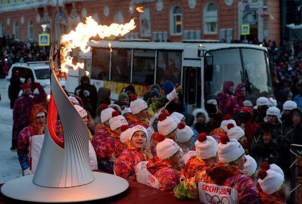 Эстафета Олимпийского огня. Норильск