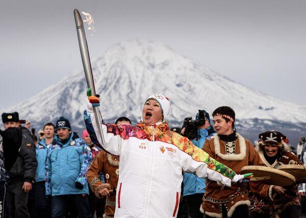 Эстафета Олимпийского огня. Елизово