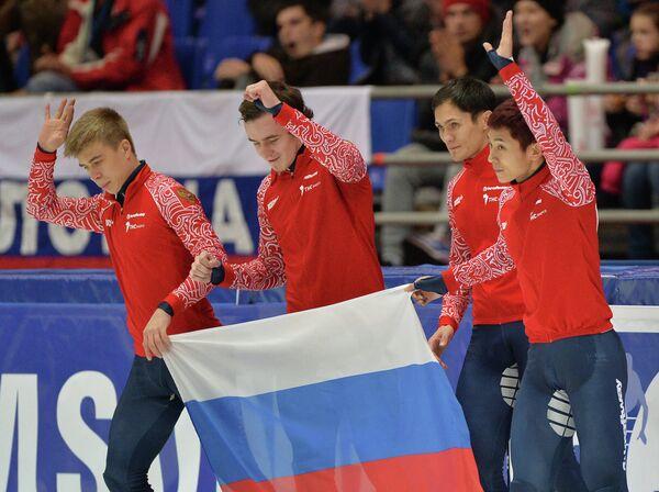 Семен Елистратов, Дмитрий Мигунов, Владимир Григорьев и Виктор Ан (слева направо)
