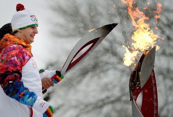 Эстафета Олимпийского огня. Биробиджан