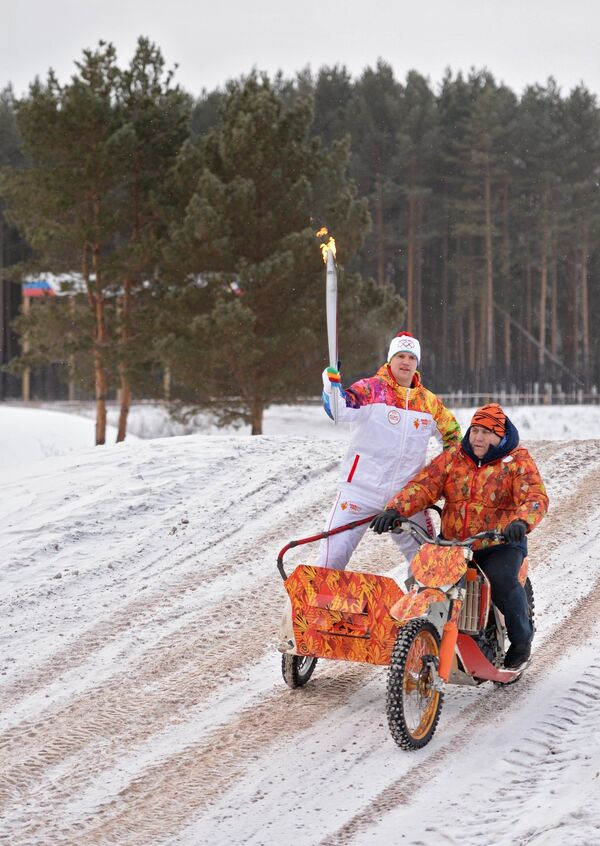 Эстафета олимпийского огня. Каменск-Уральский