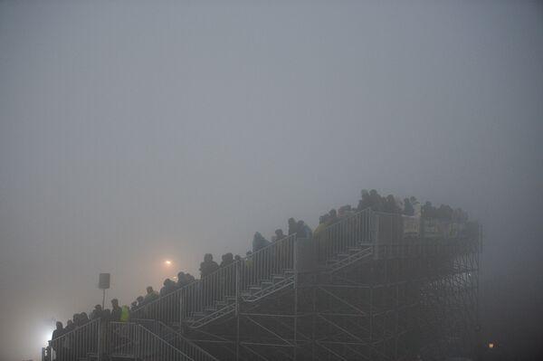 Зрители спринтерской гонки в Оберхофе