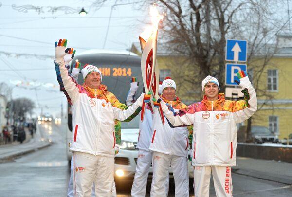 Михаил Пресняков, Андрей Осипенко и Алексей Гончаров (слева направо)
