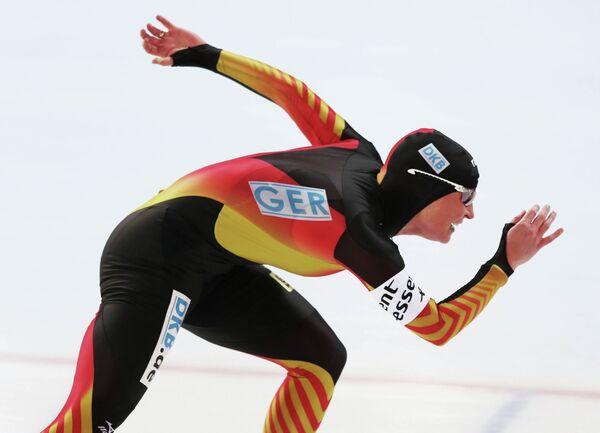 Немецкая конькобежка Клаудиа Пехштайн