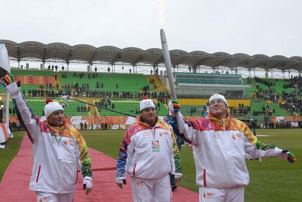 Эстафета Олимпийского огня. Махачкала