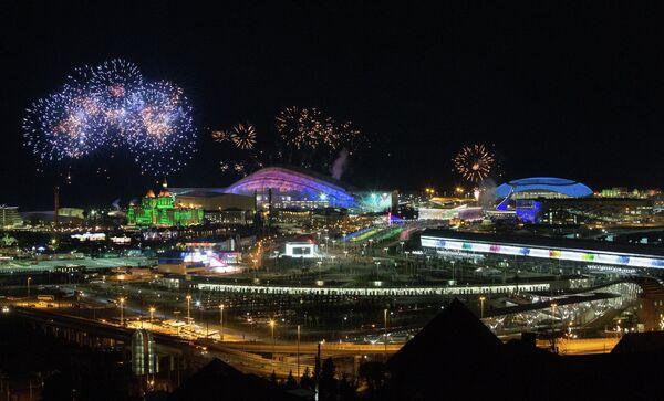 В Олимпийском парке в Сочи на репетиции открытия XXII Олимпийских зимних игр