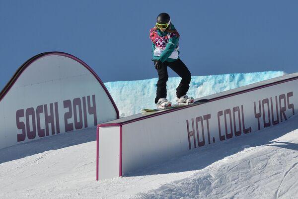Олимпиада 2014. Сноуборд. Слоупстайл. Тренировки