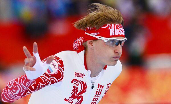 Олимпиада 2014. Конькобежный спорт. Иван Скобрев. 5000 м