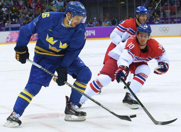 Слева направо на первом плане: Маркус Крюгер (Швеция) и Роман Червенка (Чехия)
