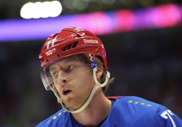 Нападающий сборной России по хоккею Антон Белов