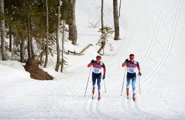 Лыжники Дмитрий Япаров (Россия), Евгений Белов (Россия)