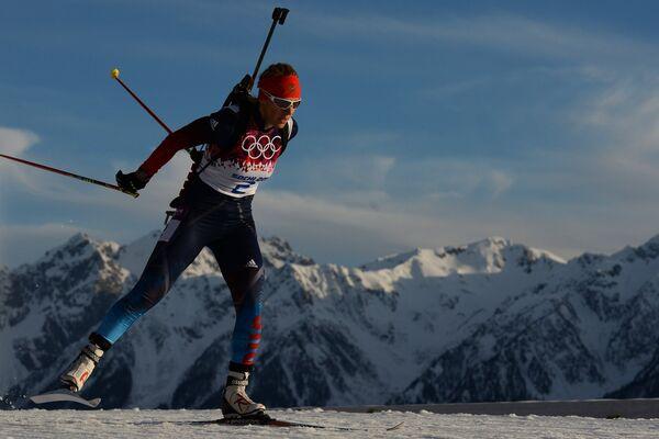 Ольга Зайцева (Россия) на дистанции индивидуальной гонки