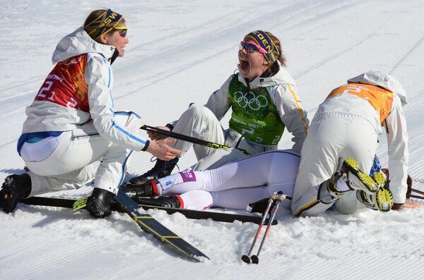 Слева направо: Ида Ингемарсдоттер (Швеция), Эмма Викен (Швеция), Шарлотта Калла (Швеция), Анна Хог (Швеция)