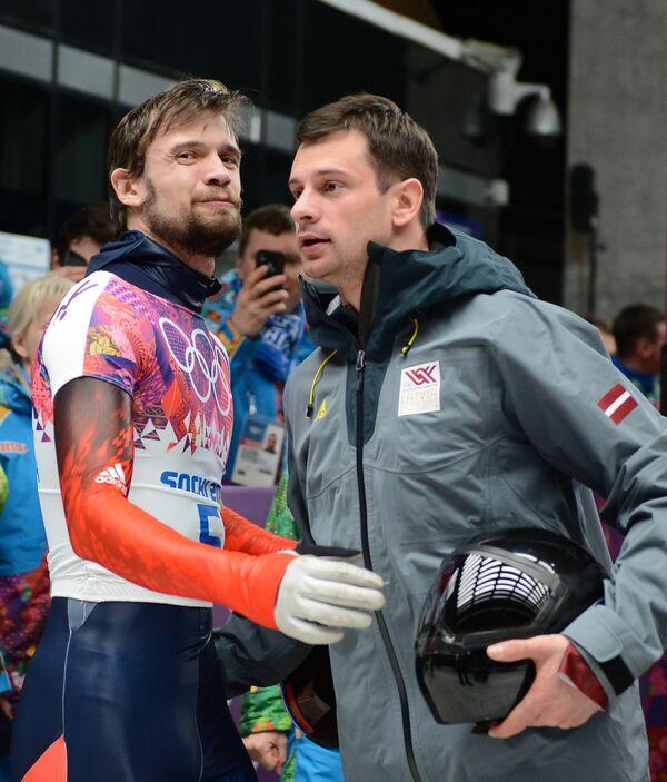 Александр Третьяков (слева) и Мартинс Дукурс