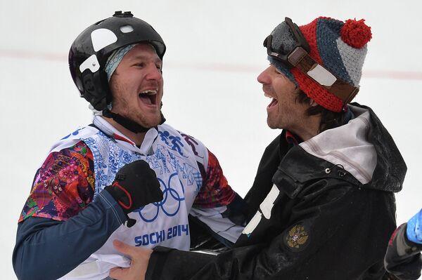 Николай Олюнин (Россия), завоевавший серебряную медаль
