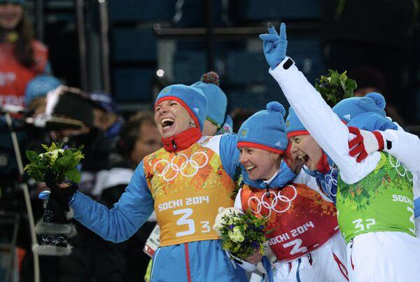 Екатерина Шумилова, Яна Романова, Ольга Вилухина и Ольга Зайцева (слева направо)