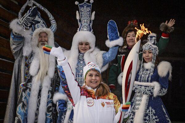 Эстафета Олимпийского огня. Якутск