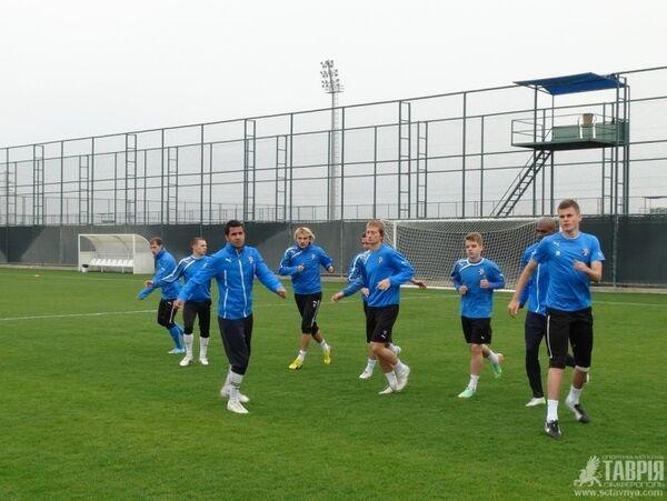 Футболисты Симферопольской Таврии