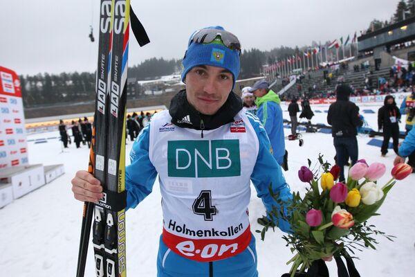 Александр Логинов (Россия), завоевавший серебряную медаль в гонке преследования
