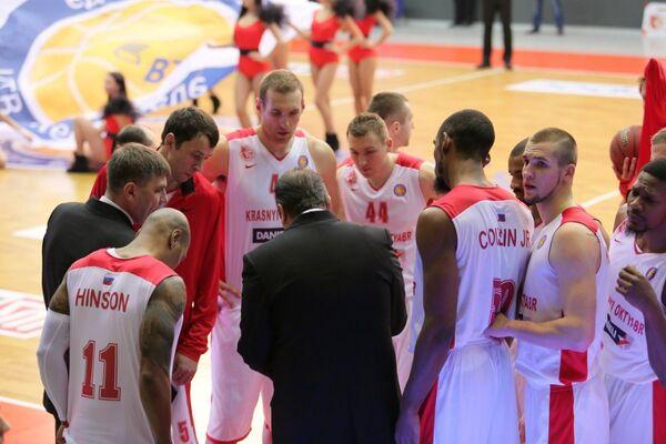 Баскетболисты БК Красный Октябрь