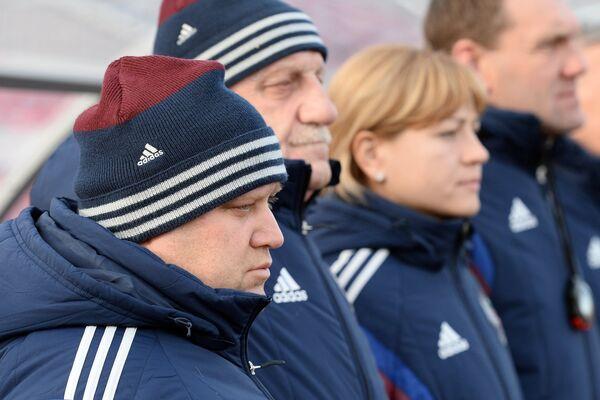 Главный тренер женской сборной России по футболу Сергей Лаврентьев