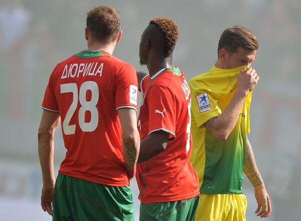Ян Дюрица, Даме Н'Дой и Федор Смолов (слева направо)