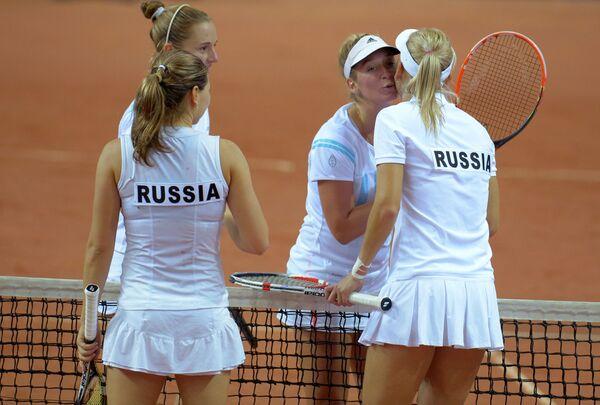 Российские теннисистки Валерия Соловьева и Елена Веснина