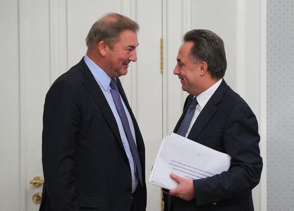 Владислав Третьяк (слева) и Виталий Мутко