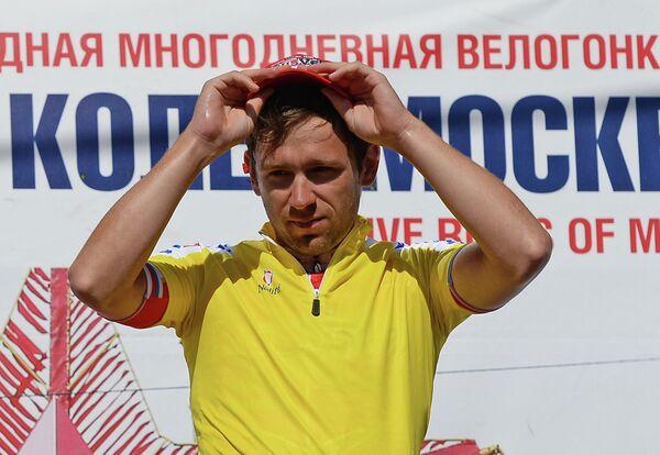 Призер велогонки Пять Колец Москвы Андрей Соломенников