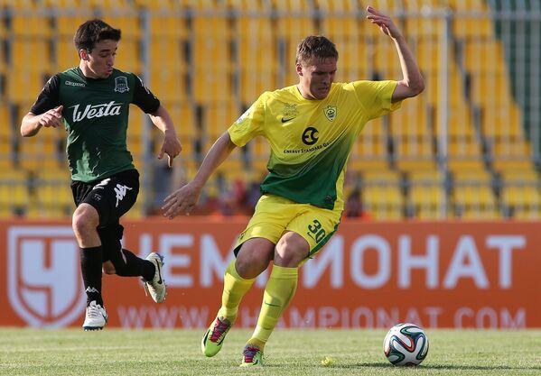 Игровой момент матча Краснодар - Анжи