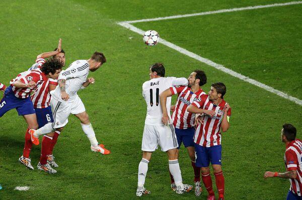 Футболисты Реала сравнивают счет в финале Лиги чемпионов