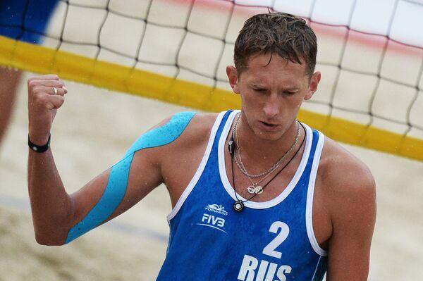 Игрок сборной России Константин Семенов