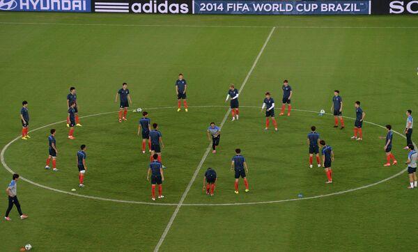 Тренировка сборной Южной Кореи