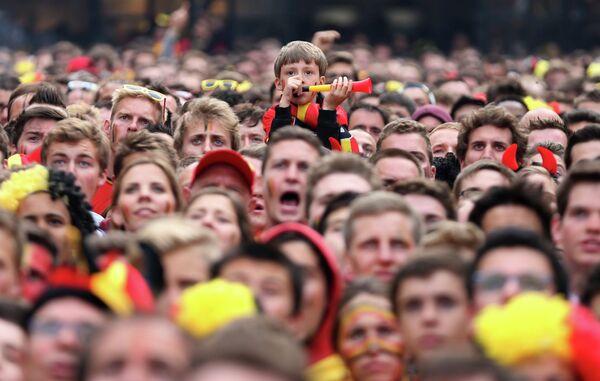 Болельщики сборной Бельгии по футболу
