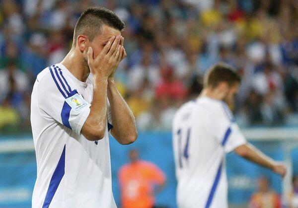 Футболисты сборной Боснии после поражения в матче ЧМ с Нигерией