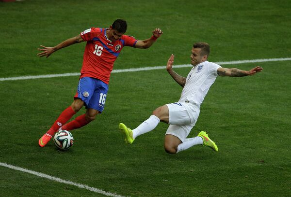 Игровой момент матча Коста-Рика  - Англия