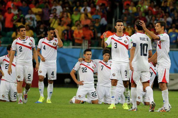 Футболисты сборной Коста-Рики в серии послематчевых пенальти в четвертьфинале ЧМ