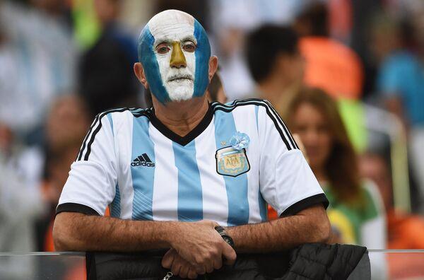 Болельщик сборной Аргентины.