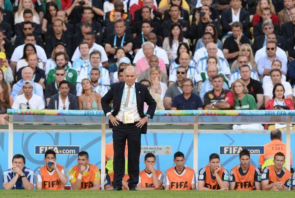 Главный тренер сборной Аргентины Алехандро Сабелья в финальном матче чемпионата мира.