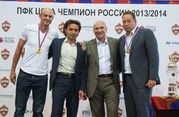Виктор Онопко, Роман Бабаев, Сергей Чебан и Леонид Слуцкий (слева направо)