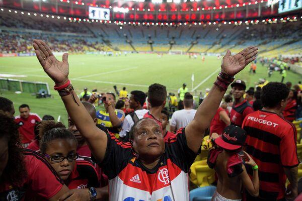 Болельщики бразильского Палмейраса