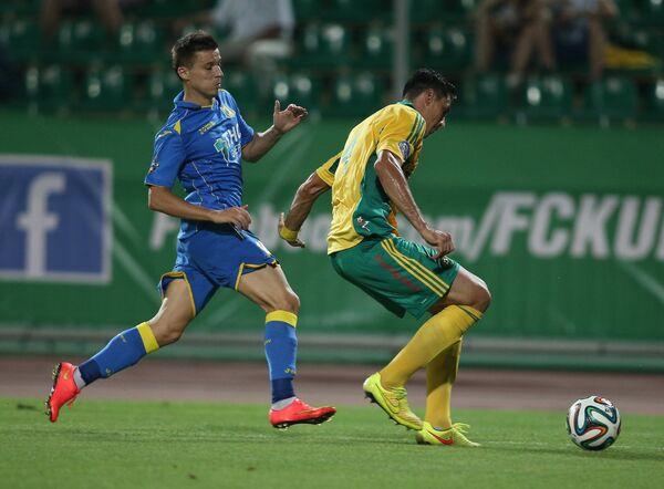 Игровой момент матча Кубань - Ростов