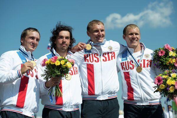 Кирилл Шамшурин, Илья Первухин, Кирилл Мелантьев и Расул Ишмухамедов (слева направо)
